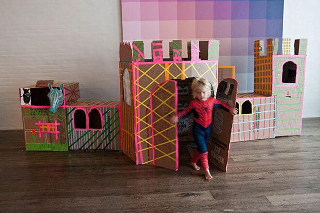 Built By Kids Cardboard Castle.