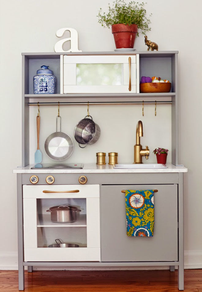 13 fun ways to transform the ikea play kitchen mum 39 s grapevine - Ikea wooden kitchen playset ...