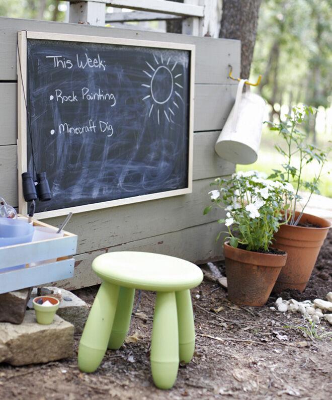 Outdoor Chalkboard. Outdoor play area.