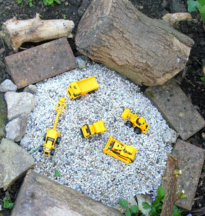 Gravel pit. Outdoor play ideas.
