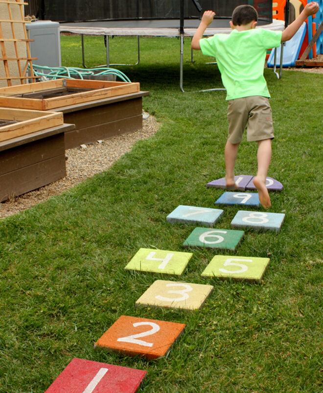 Hopscotch. Outdoor play ideas.