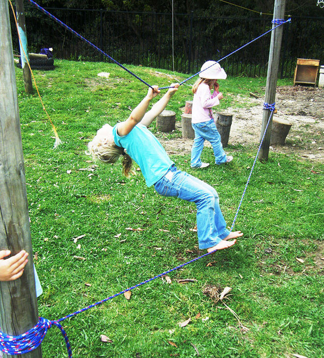 Tension Ropes. Outdoor Play Ideas.