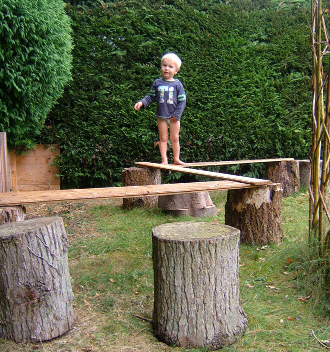 Walk the plank. Outdoor play ideas