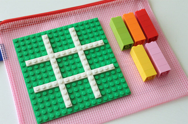 Use Lego for on the go Tic Tac Toe.