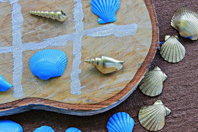 DIY tic tac toe shells
