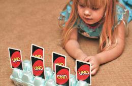 egg carton card holder for toddlers