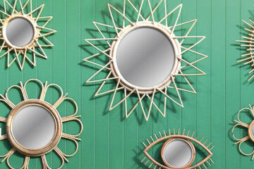 Mother's Day gift guide down to the woods rattan mirror