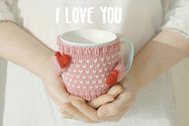 Etsy heart mug sweater pink