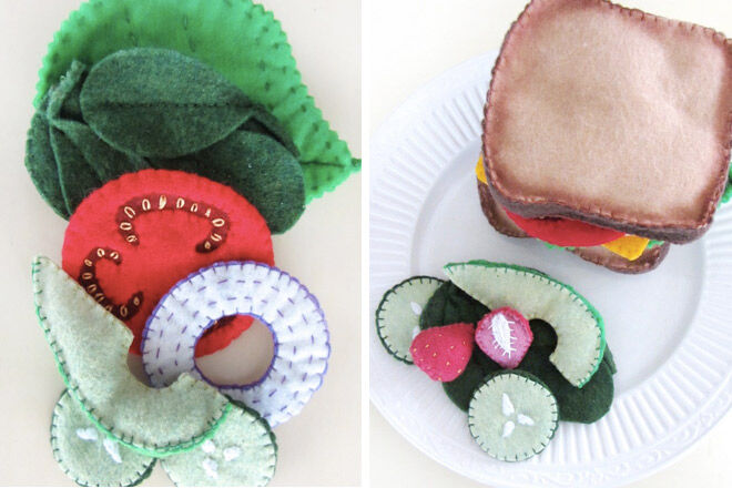 Felt sandwich kit. busy bag insert idea