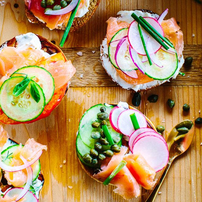 Easy Mother's Day Breakfast Ideas: Breakfast Bagel