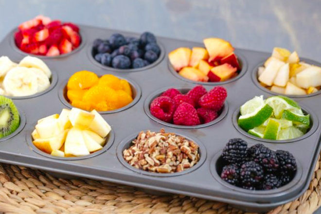 Easy Mother's Day Breakfast Ideas: Muffin tray fruit salad