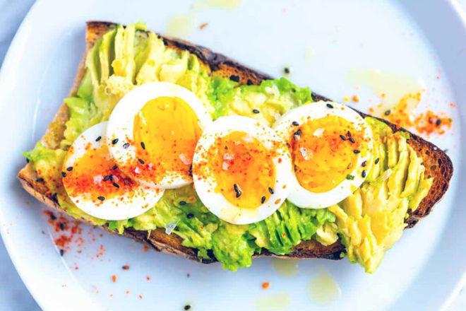 Easy Mother's Day Breakfast Ideas: Avocado on toast with egg