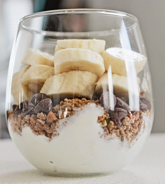 Banana Yogurt Parfait. Mother's Day Breakfast the kids can make themselves.