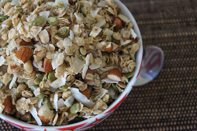Make your own Granola and leave it out for the kids to put together.