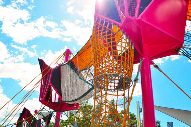 South Bank Brisbane Riverside Green Playground