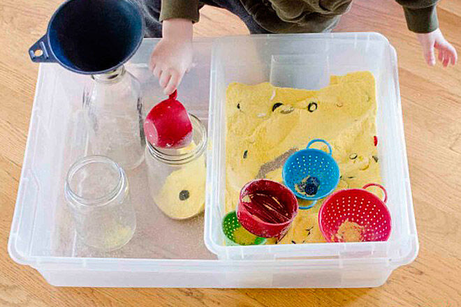 sensory play DIY dig