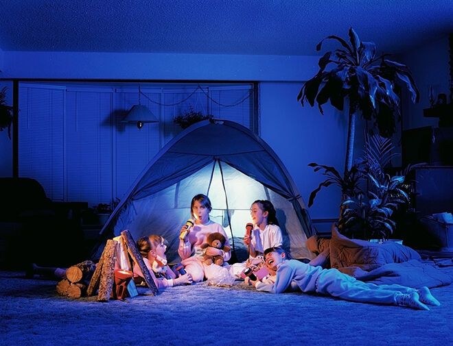 Indoor Camping is a great activity for Earth Day.
