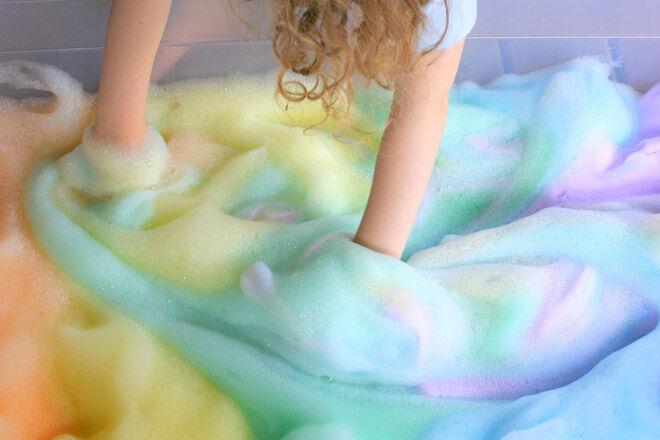 bath play DIY foam