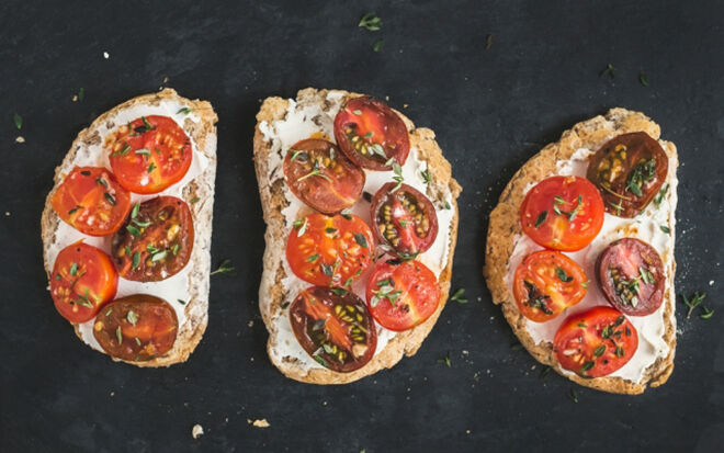 Ricotta and Tomato on Toast. Easy Mother's Day Breakfast the kids can make.