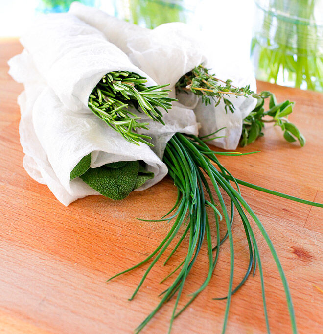 How to keep your herbs fresher for longer.