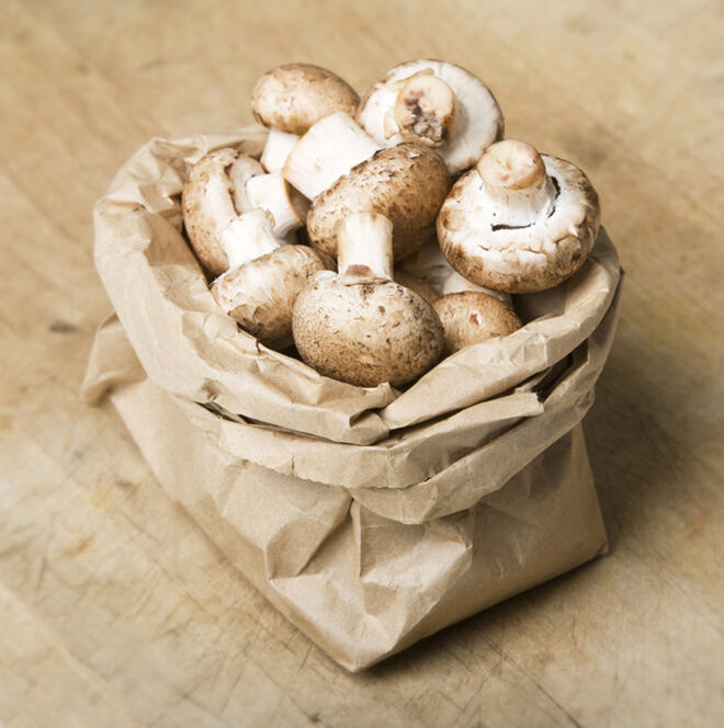 Mushrooms need to be kept in a brown paper bag. to keep them fresher for longer.