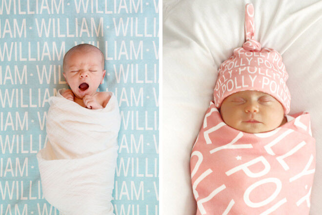 Baby Gifts Queensland : All wrapped up personalised baby blankets