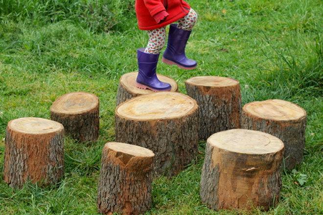 Natural Wood Step Stool