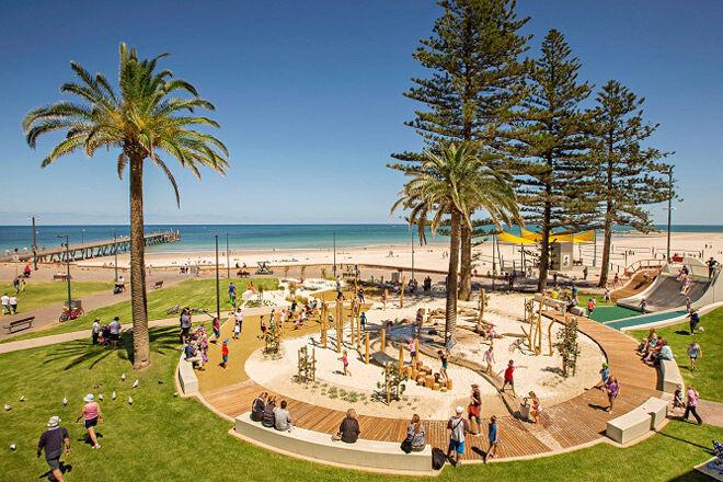 SA Glenelg foreshore playground beach kids Adelaide