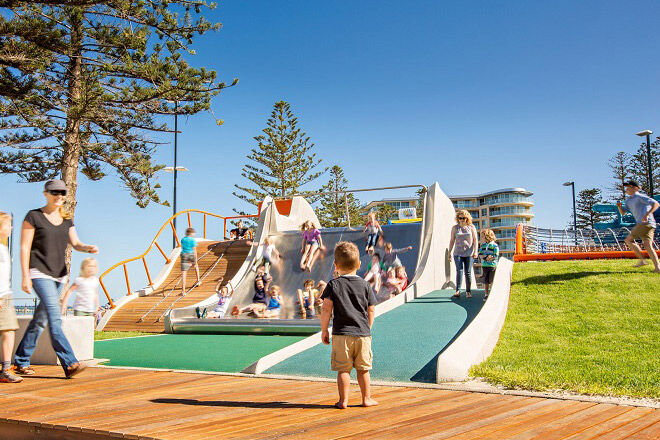 beachside playground in Adelaide
