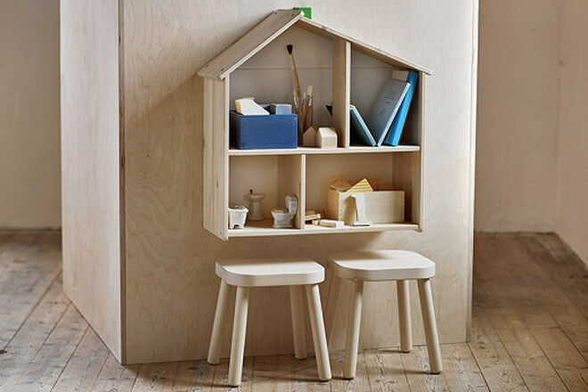 Ikea-flisat-dollhouse-and-stools