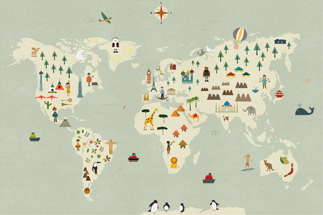 Etsy Daily Find world map