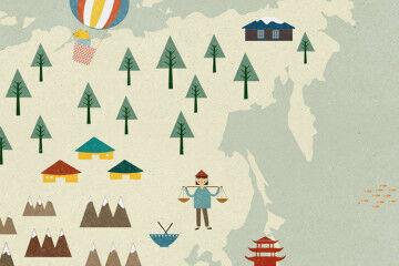 kids room map print Etsy