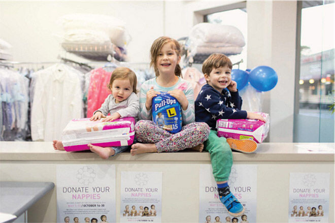 Donate your old nappies to the Nappy Collective