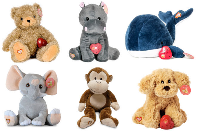 Heartbeat teddy bears and plushies