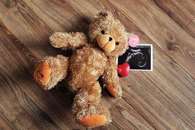 My Baby's Heartbeat Bear records babies heartbeat at ultrasound