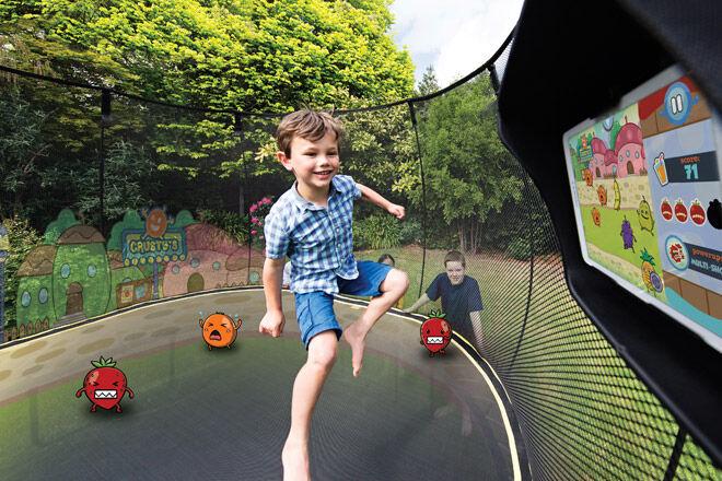 trampoline Springfree kids outdoor play fun
