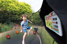 trampoline kids outdoor play gaming
