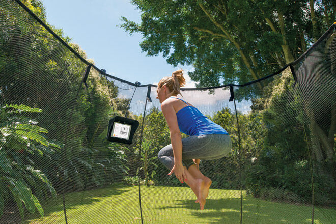 trampoline mum fitness game outdoor