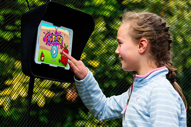 trampoline gaming play outdoor kids