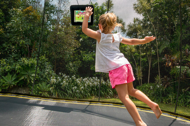 trampoline outdoor play Springfree kids