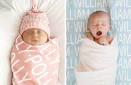 Etsy personalised baby blanket gift