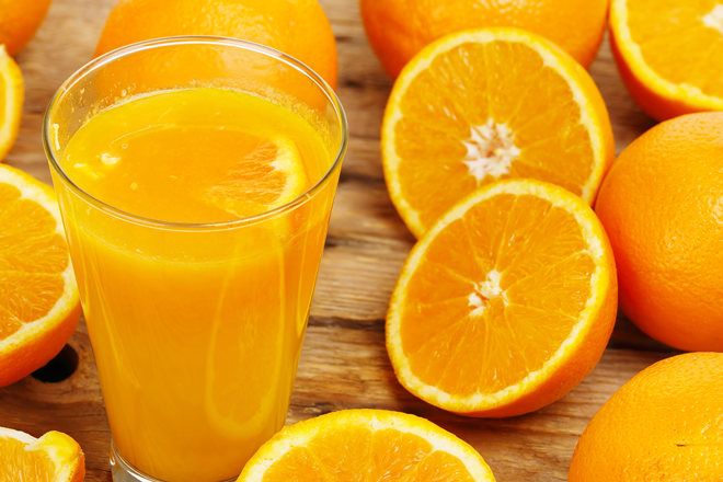 Pregnancy foods to eat orange juice