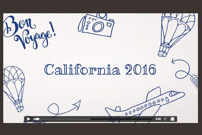 Shoebox Timeline holiday slide show