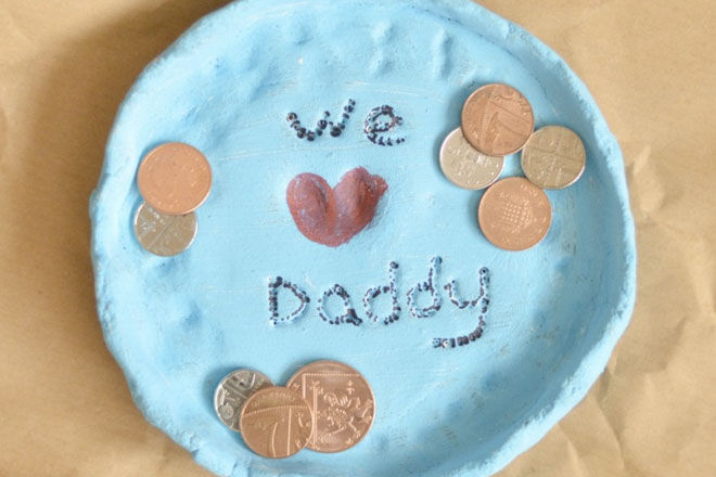 DIY fathers day gift coin dish