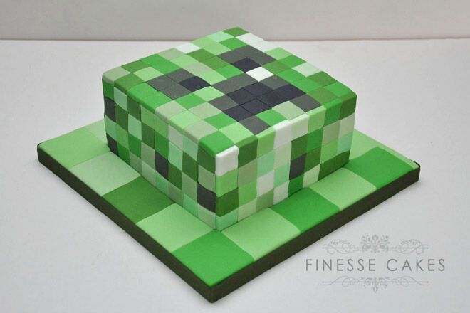 minecraft birthday party video game food