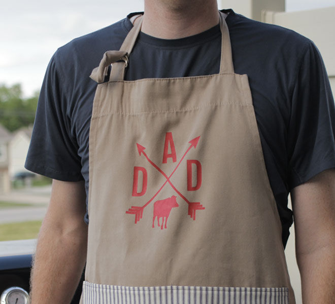 DIY fathers day gift apron