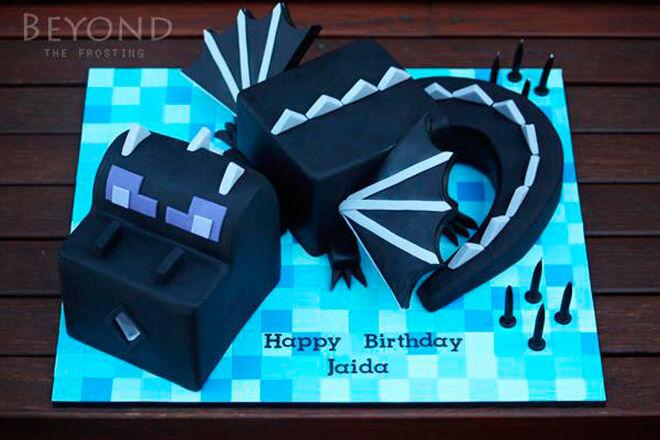 minecraft cake birthday food kids party