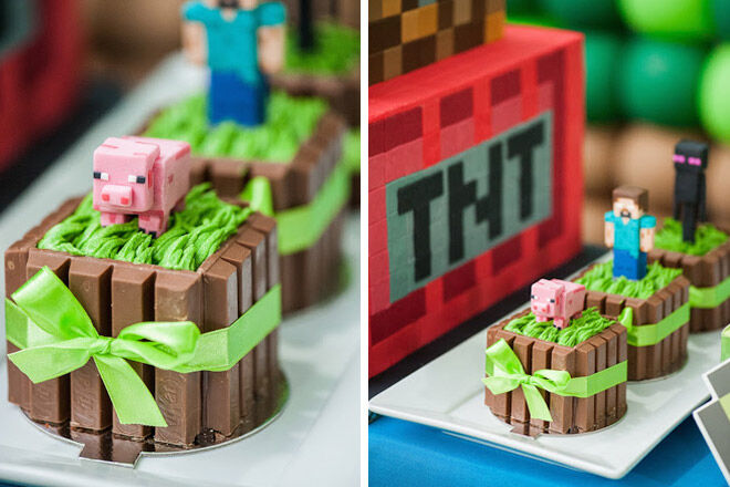 minecraft cake birthday party