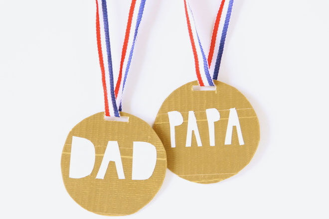 DIY fathers day gift medals
