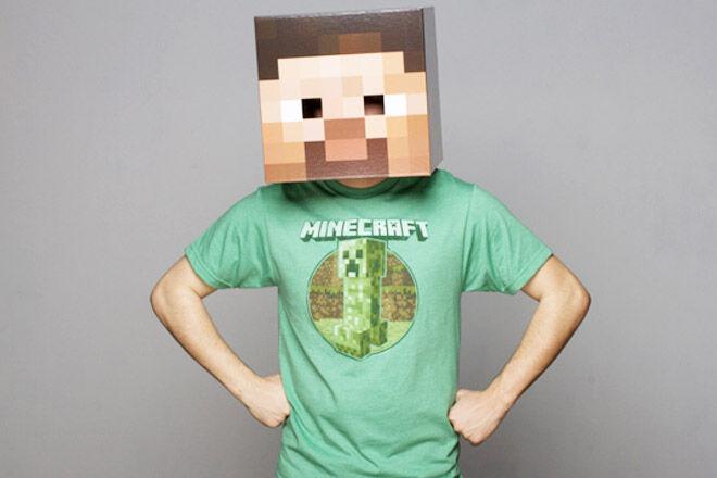 Minecraft gift guide steve head